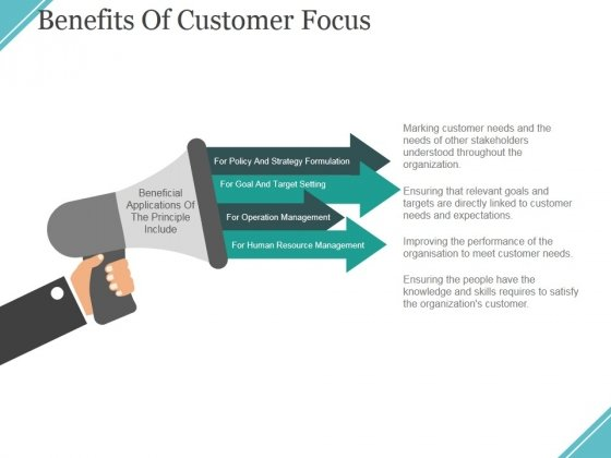 Benefits Of Customer Focus Ppt PowerPoint Presentation Gallery Structure