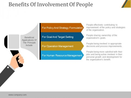 Benefits Of Involvement Of People Ppt PowerPoint Presentation Gallery