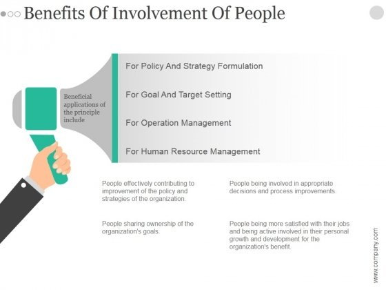 Benefits Of Involvement Of People Ppt PowerPoint Presentation Samples
