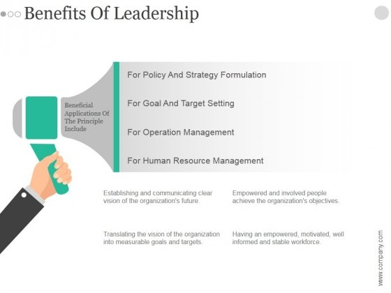Benefits Of Leadership Ppt PowerPoint Presentation Introduction