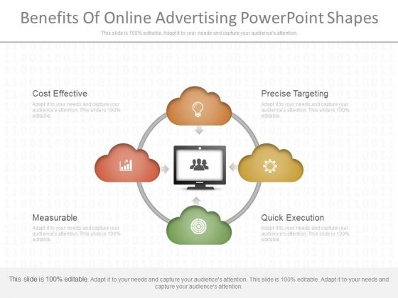 Benefits Of Online Advertising Powerpoint Shapes