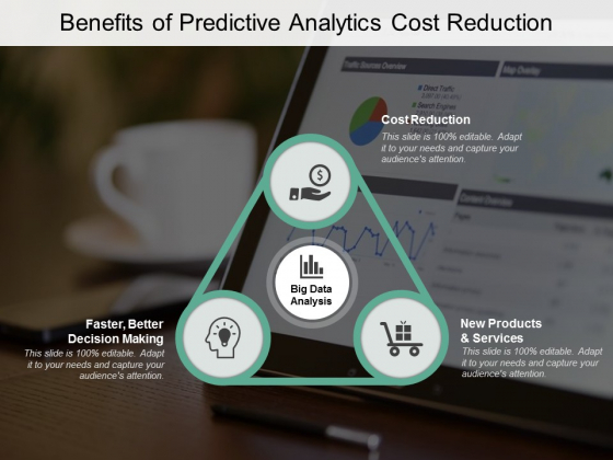 Benefits Of Predictive Analytics Cost Reduction Ppt PowerPoint Presentation Styles Sample