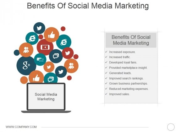 Benefits Of Social Media Marketing Ppt PowerPoint Presentation Model Example