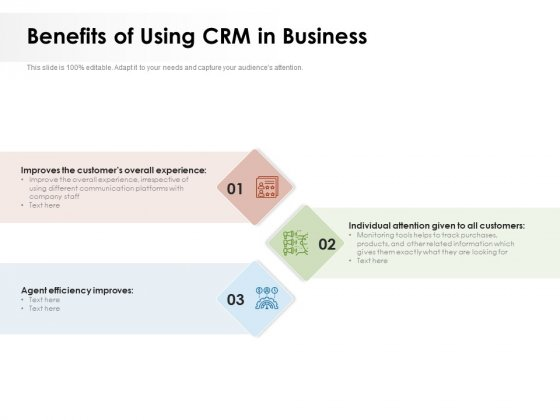 Benefits Of Using CRM In Business Ppt PowerPoint Presentation File Slideshow PDF