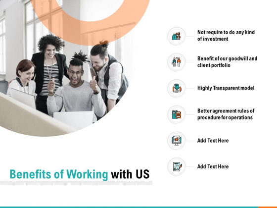 Benefits Of Working With Us Ppt PowerPoint Presentation Infographics Templates