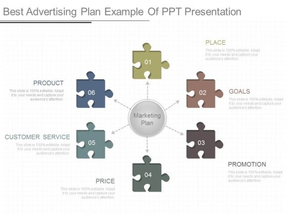 Best Advertising Plan Example Of Ppt Presentation