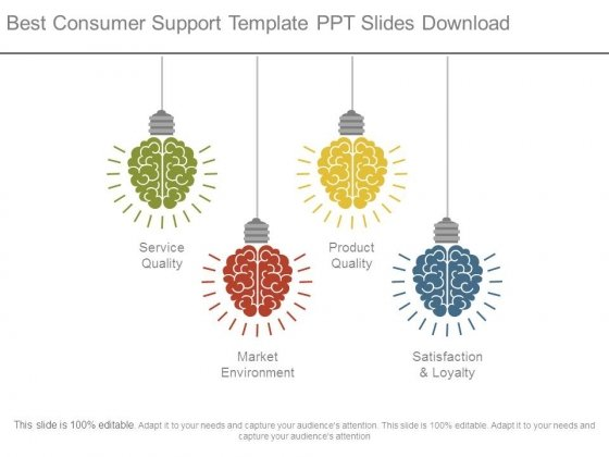 Best Consumer Support Template Ppt Slides Download