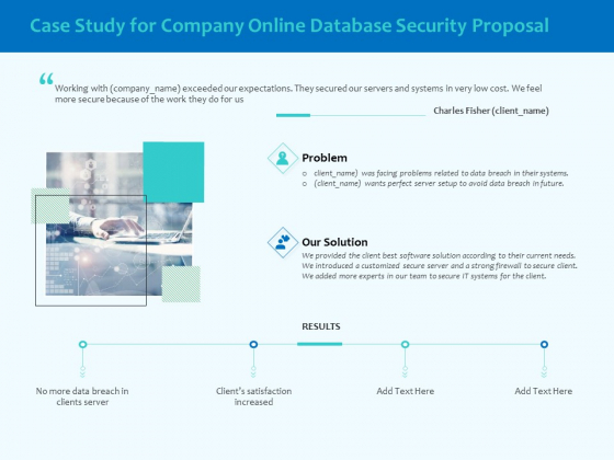 Best Data Security Software Case Study For Company Online Database Security Proposal Template PDF