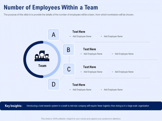 Best Employee Appreciation Workplace Number Of Employees Within A Team Slides PDF