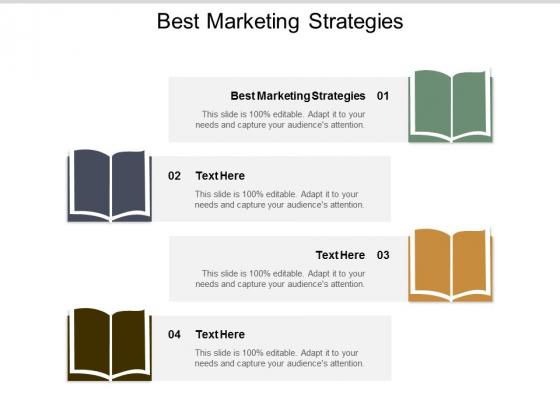 Best Marketing Strategies Ppt PowerPoint Presentation Model Slideshow Cpb
