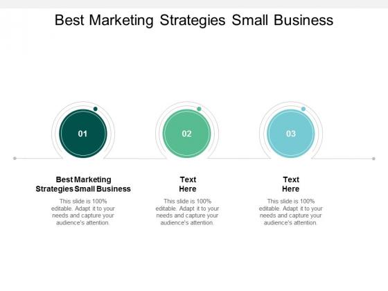 Best Marketing Strategies Small Business Ppt PowerPoint Presentation Icon Portfolio Cpb