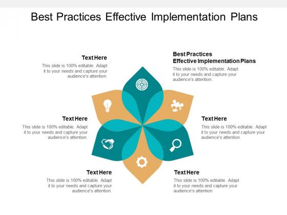 Best Practices Effective Implementation Plans Ppt PowerPoint Presentation Infographics Slide Download Cpb