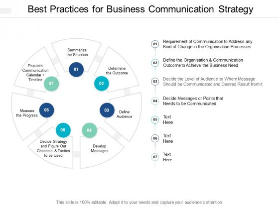 Best Practices For Business Communication Strategy Ppt Powerpoint Presentation Diagrams