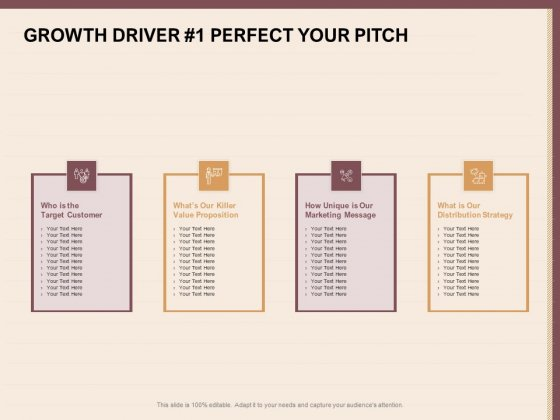 Best Practices For Increasing Lead Conversion Rates Growth Driver 1 Perfect Your Pitch Background PDF