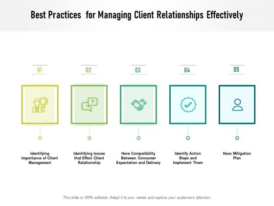 Best Practices For Managing Client Relationships Effectively Ppt PowerPoint Presentation Layouts Backgrounds