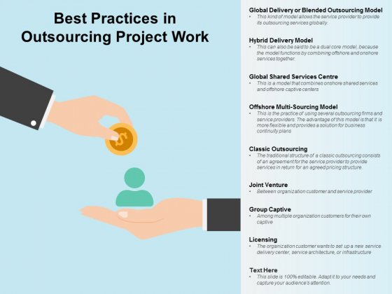 Best Practices In Outsourcing Project Work Ppt PowerPoint Presentation Summary Picture