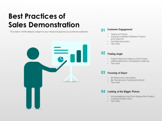 Best Practices Of Sales Demonstration Ppt PowerPoint Presentation Show Inspiration