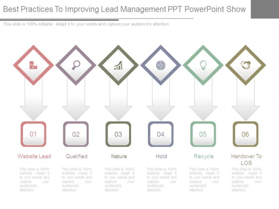 Best Practices To Improving Lead Management Ppt Powerpoint Show