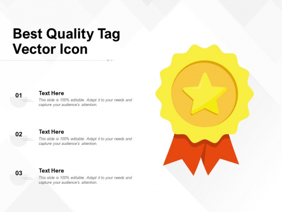 Best Quality Tag Vector Icon Ppt PowerPoint Presentation Professional Show