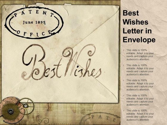 Best Wishes Letter In Envelope Ppt PowerPoint Presentation Professional Infographic Template
