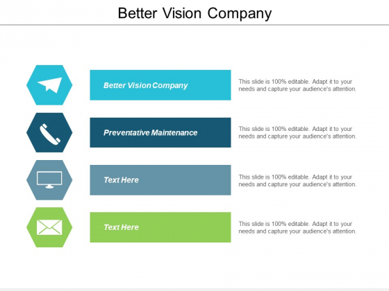 Better Vision Company Ppt PowerPoint Presentation Icon Show Cpb