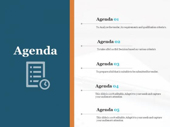 Bid Governance Analysis Agenda Ppt Styles Aids PDF