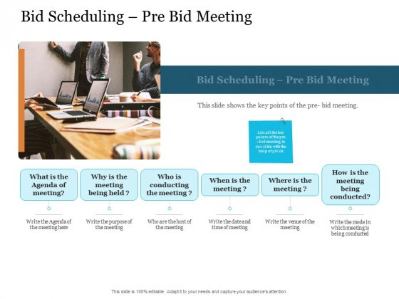 Bid Governance Analysis Bid Scheduling Pre Bid Meeting Ppt Infographic Template Inspiration PDF