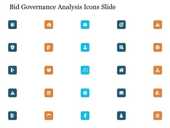 Bid Governance Analysis Icons Slide Ppt File Layout PDF