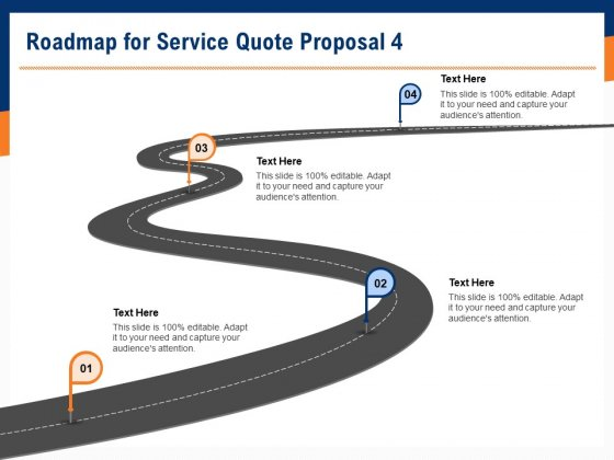 Bids And Quotes Proposal Roadmap For Service Quote Proposal 4 Ppt Model Files PDF