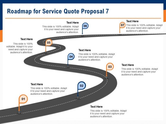 Bids And Quotes Proposal Roadmap For Service Quote Proposal 7 Ppt Show Shapes PDF