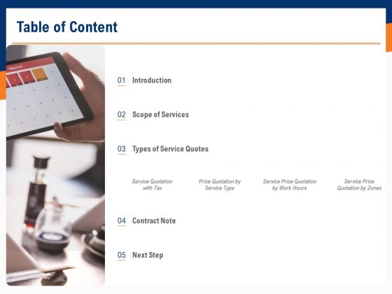 Bids_And_Quotes_Proposal_Table_Of_Content_Ppt_Summary_Samples_PDF_Slide_1