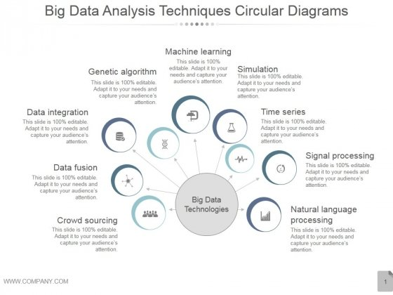 Big Data Analysis Techniques Circular Diagrams Ppt PowerPoint Presentation Shapes
