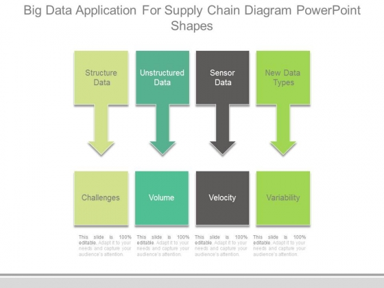 Big Data Application For Supply Chain Diagram Powerpoint Shapes