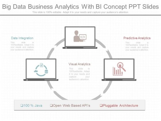 Big Data Business Analytics With Bi Concept Ppt Slides