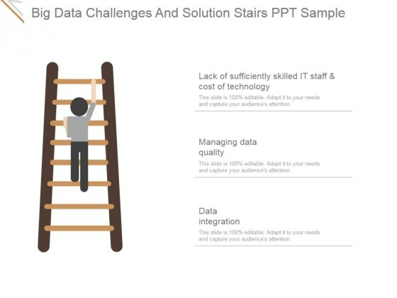 Big Data Challenges And Solution Stairs Ppt PowerPoint Presentation Slide Download