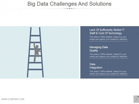 Big Data Challenges And Solutions Ppt PowerPoint Presentation Background Images