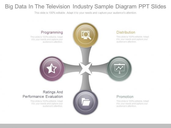 Big Data In The Television Industry Sample Diagram Ppt Slides