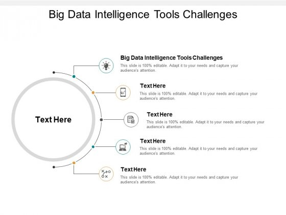 Big Data Intelligence Tools Challenges Ppt PowerPoint Presentation Ideas Graphics Download Cpb