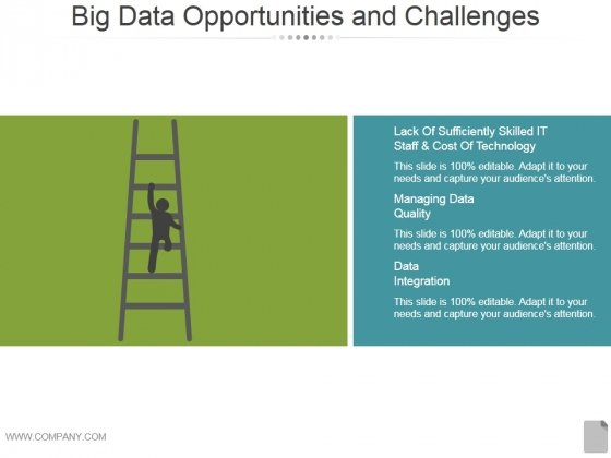 Big Data Opportunities And Challenges Template 1 Ppt PowerPoint Presentation Visual Aids