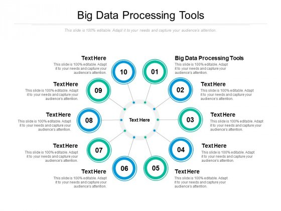 Big Data Processing Tools Ppt PowerPoint Presentation Pictures Background Designs Cpb