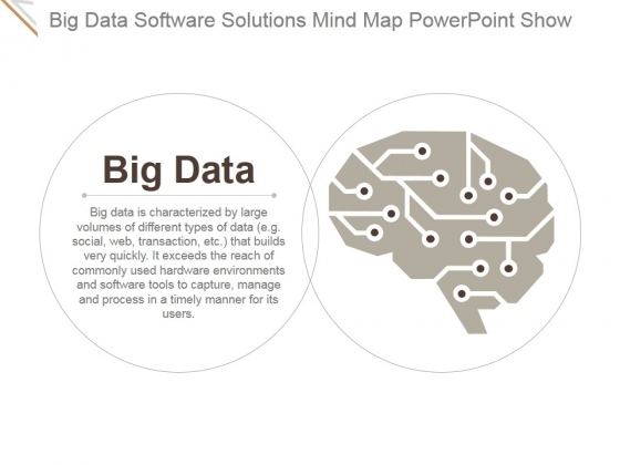 Big Data Software Solutions Mind Map Ppt PowerPoint Presentation Show
