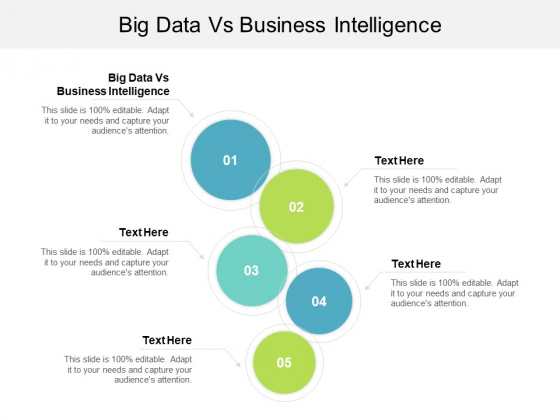 Big Data Vs Business Intelligence Ppt PowerPoint Presentation Infographic Template Maker Cpb