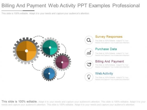 Billing And Payment Web Activity Ppt Examples Professional