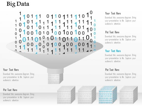 Binary Numbers Big Data Processing Powerpoint Template