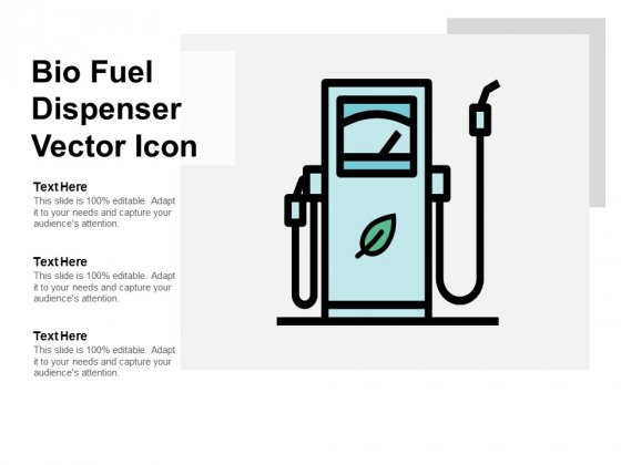 Bio Fuel Dispenser Vector Icon Ppt PowerPoint Presentation Outline Guide