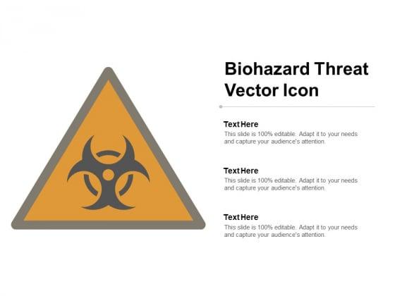 Biohazard Threat Vector Icon Ppt Powerpoint Presentation Portfolio Icons