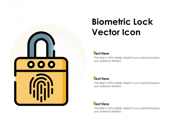 Biometric Lock Vector Icon Ppt PowerPoint Presentation Outline Gallery