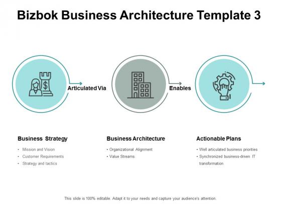 Bizbok Business Architecture Actionable Plans Ppt PowerPoint Presentation Show Slide