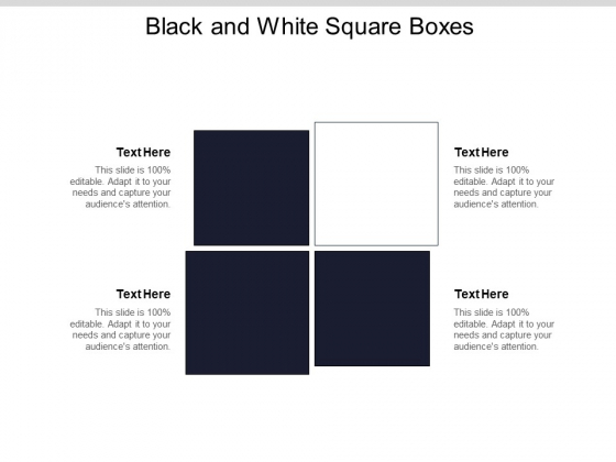 Black And White Square Boxes Ppt PowerPoint Presentation Show Deck