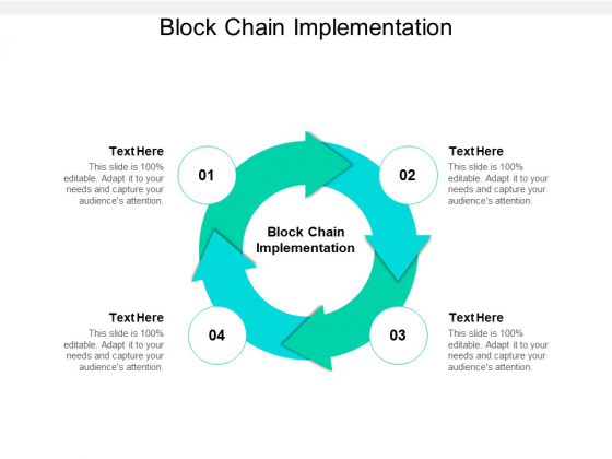 Block Chain Implementation Ppt PowerPoint Presentation Pictures Graphics Design Cpb